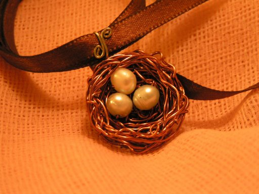 Wedding Nest with three eggs